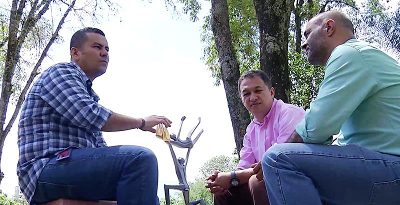 Investigadores #UdeMedellín (de izquierda a derecha): Juan Manuel Montes Hincapié, Albert Leonard Alzate Ramírez y Jaime Alberto Echeverri Arias, quiénes participaron en la primera patente otorgada para este proyecto